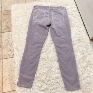 J. Crew Pants - J Crew skinny ankle zip lavender corduroy pants